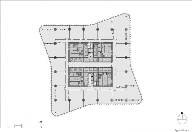 Башни Zhengzhou Greenland Central Plaza © gmp Architects