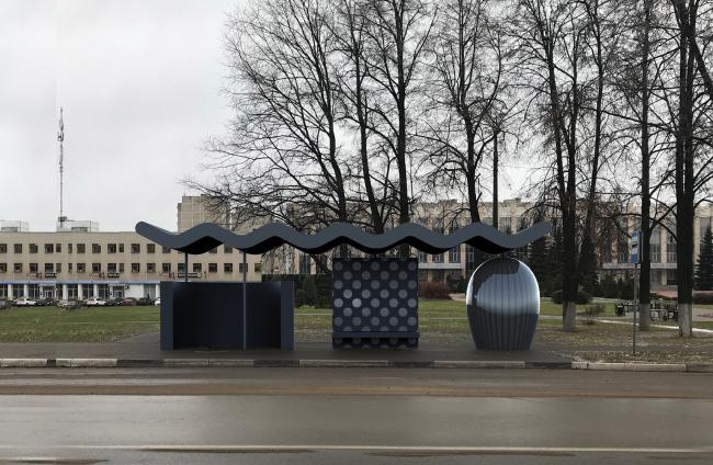 Конкурсные проект остановки общественного транспорта для Выксы