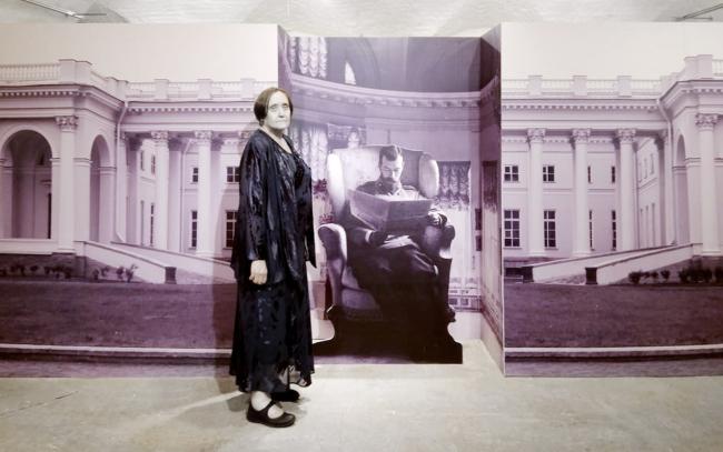 Мария Рогозина, 1947-2018, на открытии выставки Сильвио Данини 26.06.2018  / фотография предоставлена Екатериной Рогозиной
