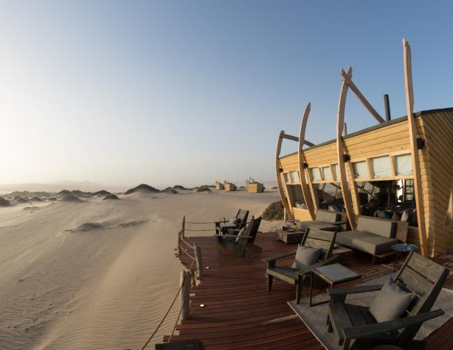 Отель Shipwreck Lodge. Фотография © Denzel Bezuidenhoudt. Предоставлена Nina Maritz Architects