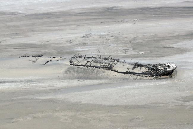 Остов судна «Эдуард Болен» на Берегу Скелетов в Намибии. Автор: Anagoria. Лицензия CC BY 3.0
