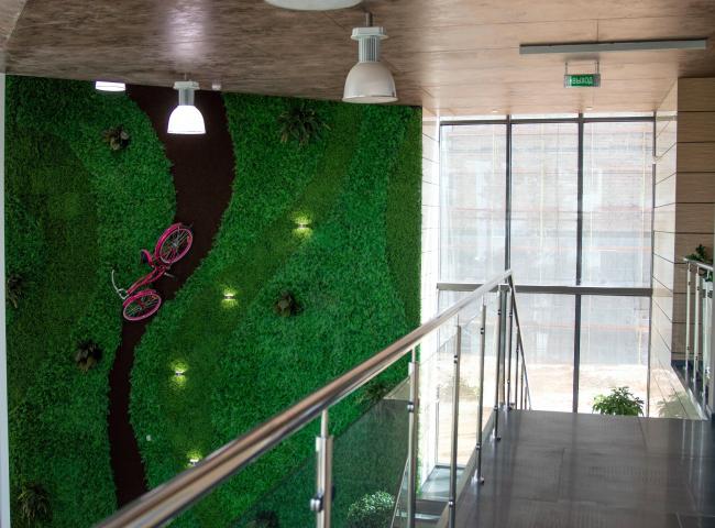 Здание офиса продаж ЖК «Селигер Сити» © Архитектуриум