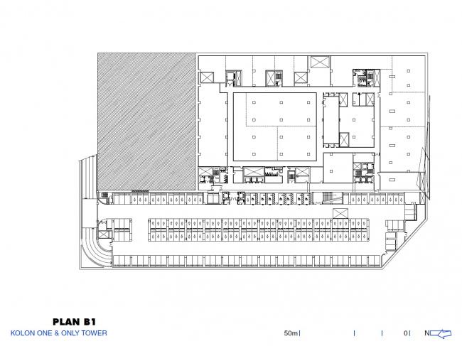 Комплекс Kolon One & Only Tower. Изображение предоставлено Morphosis Architects