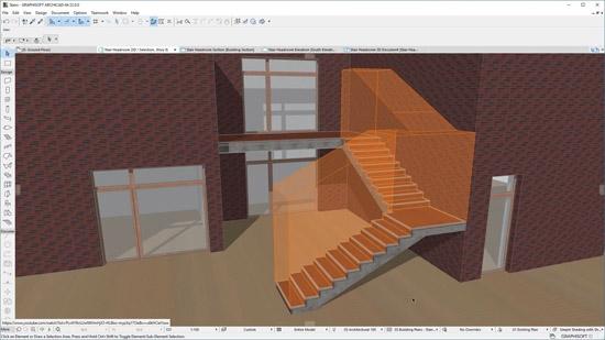 Новые возможности для визуализации и обнаружения коллизий в инструменте Лестница GRAPHISOFT®