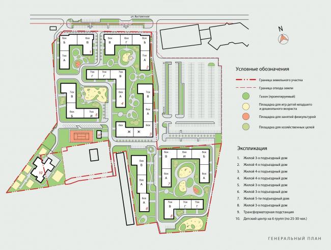 Жилой комплекс Urban Ranch. Генеральный план © АБ «Модус»