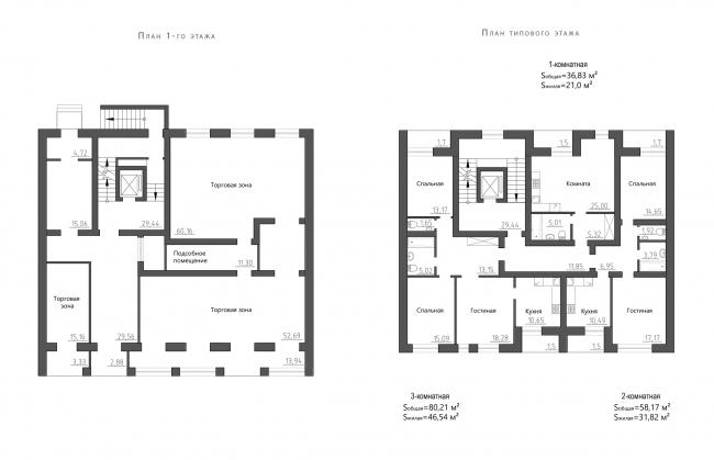 Жилой комплекс Urban Ranch. План секции Г © АБ «Модус»