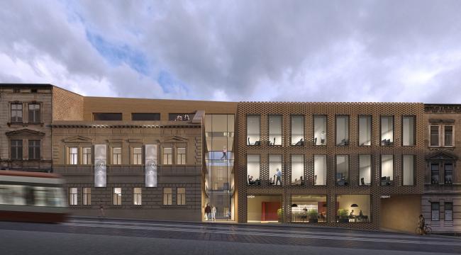 Жилой комплекс с офисным зданием по ул. Городоцкой во Львове © АБ «Модус»