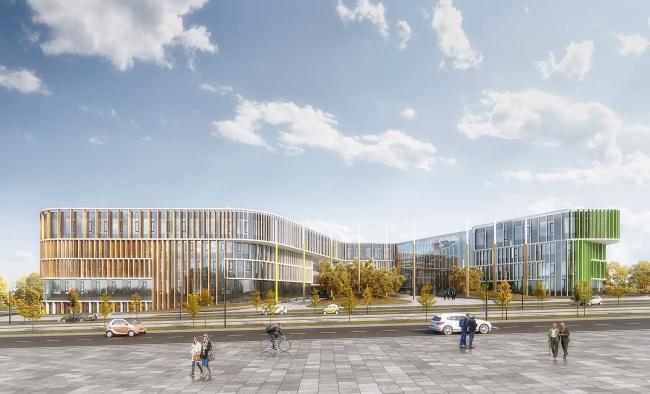 Международный медицинский кластер в Сколково. Диагностический и терапевтический корпус © Архитектурное бюро Асадова