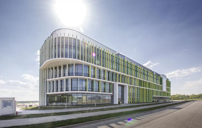 Международный медицинский кластер в Сколково. Диагностический корпус. Фотография © Архитектурное бюро Асадова, постройка, 2018
