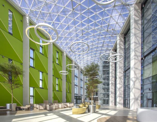 Международный медицинский кластер в Сколково. Диагностический корпус. Фотография © Архитектурное бюро Асадова
