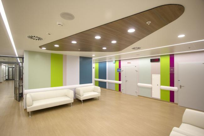 Международный медицинский кластер в Сколково. Диагностический и терапевтический корпус. Фотография © Архитектурное бюро Асадова