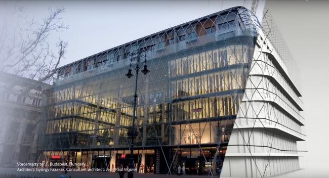 Благодаря усовершенствованию нового инструмента  в ARCHICAD 22 создание сложных фасадов стало еще  более удобным  GRAPHISOFT® Vörösmarty tér 1, Будапешт, Венгрия – Архитектор: Дьёрдь Фазакас, архитектор-консультант: Жан Поль Вигье