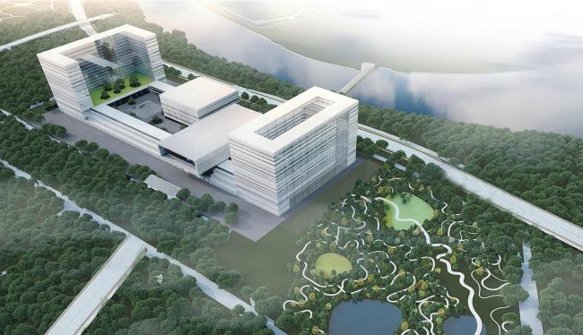 Парламентский центр, конкурсный проект, 2015. Вариант 2 © ОАО Моспроект & А-ГА