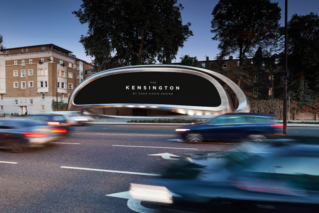 Рекламная конструкция The Kensington в Лондоне © Zaha Hadid Architects