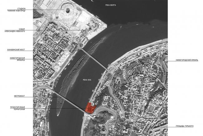 Редевелопмент территории мукомольного комбината. Ситуационный план © ПТМА