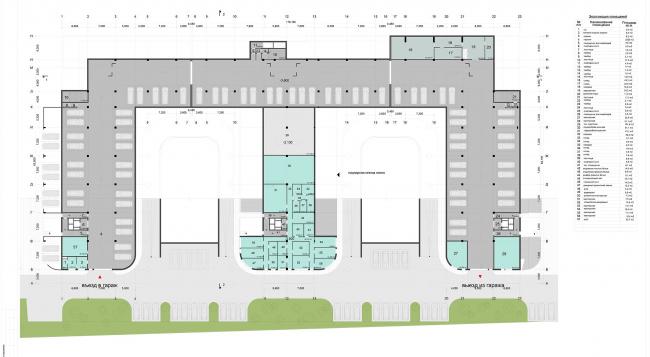 Гостиничный комплекс «Ландыши» на ул. Островитянова. План на отм. -3.60 © ГрандПроектСити