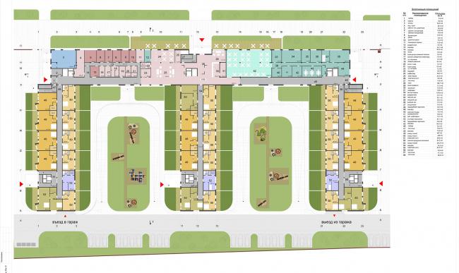 Гостиничный комплекс «Ландыши» на ул. Островитянова. План на отм. 0.00 © ГрандПроектСити