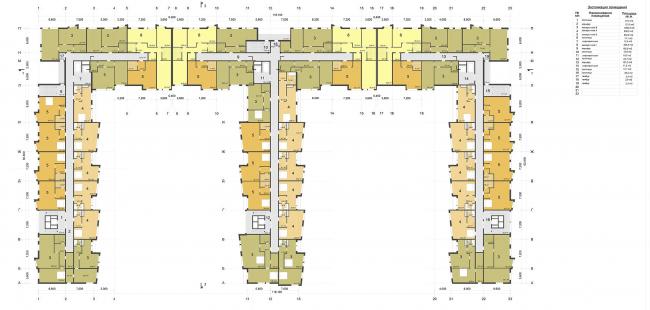 Гостиничный комплекс «Ландыши» на ул. Островитянова. План на отм. 4.20 © ГрандПроектСити