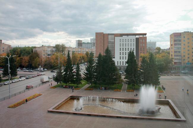 Гостиница на площади Советской Армии. Вид из здания МУГИСО © АБ Center