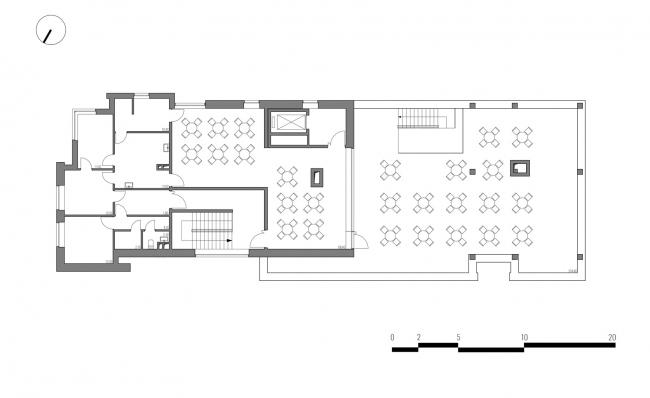 Гостиница на площади Советской Армии. План 7 этажа © АБ Center