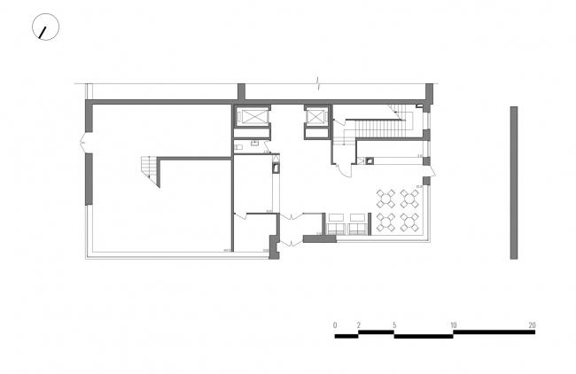 Гостиница на площади Советской Армии. План 1 этажа © АБ Center