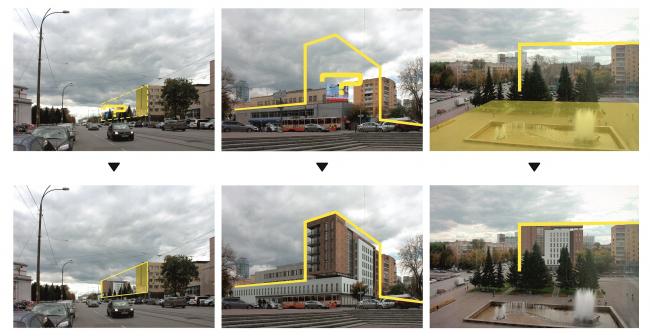 Гостиница на площади Советской Армии. Выдержка из анализа ансамбля площади Советской Армии © АБ Center