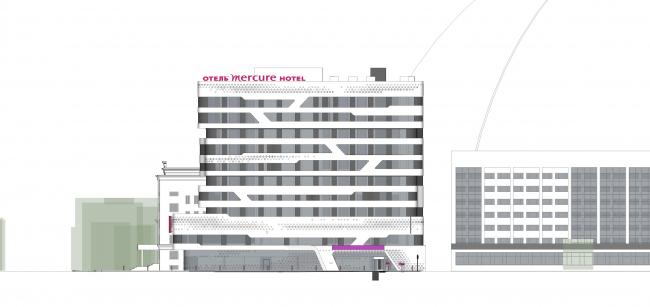 Отель «Mercure». Фасад © Архитектурное бюро «А.Лен»
