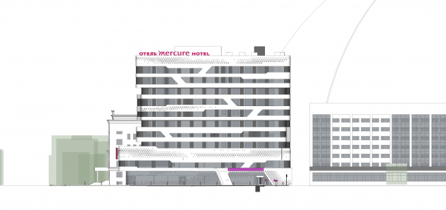 Отель «Mercure». Фасад