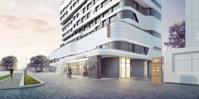 Отель «Mercure». Входная группа © Архитектурное бюро «А.Лен»