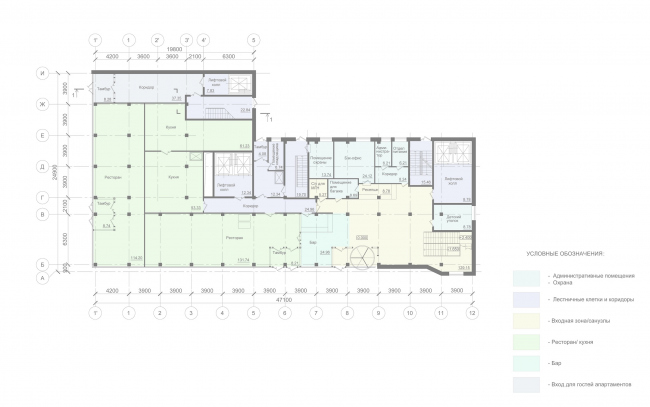 Mercure Hotel. Plan of the 1st floor
