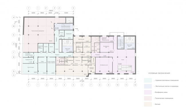Mercure Hotel. Plan of the 2nd floor