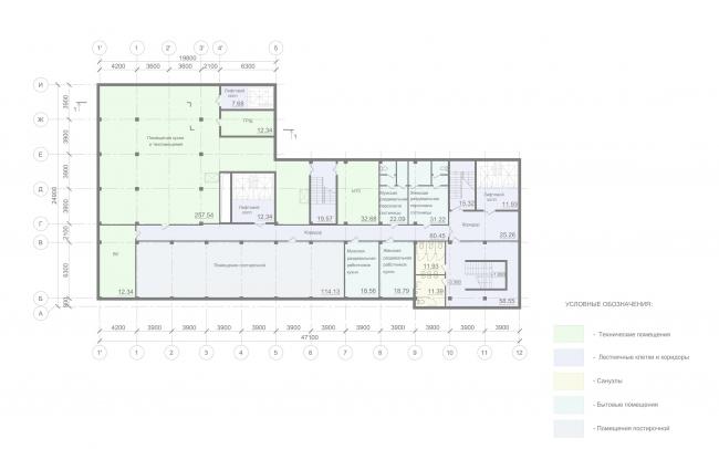 Отель «Mercure». План подвала © Архитектурное бюро «А.Лен»
