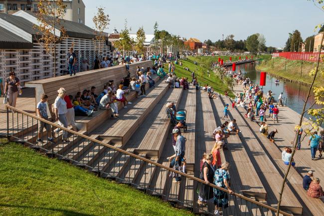 Реконструкция набережной реки Упы, Тула. 2017-2018
