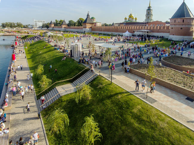 Reconstruction of the Upa River embankment, Tula. 2017-2018 © WOWHAUS, Photograph © Oleg Leonov, Overhaul Department of Moscow