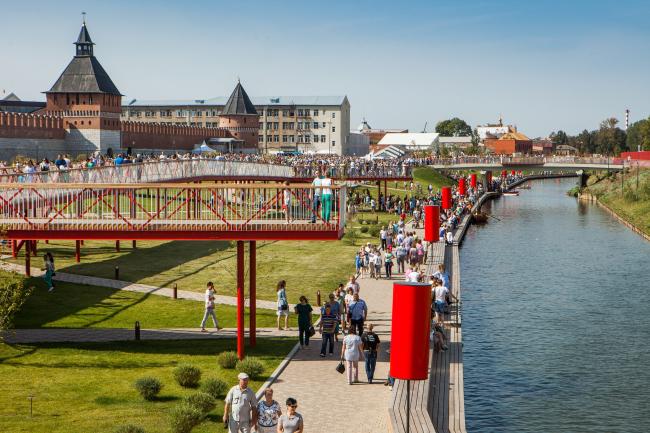 Реконструкция набережной реки Упы, Тула. 2017-2018 © Wowhaus