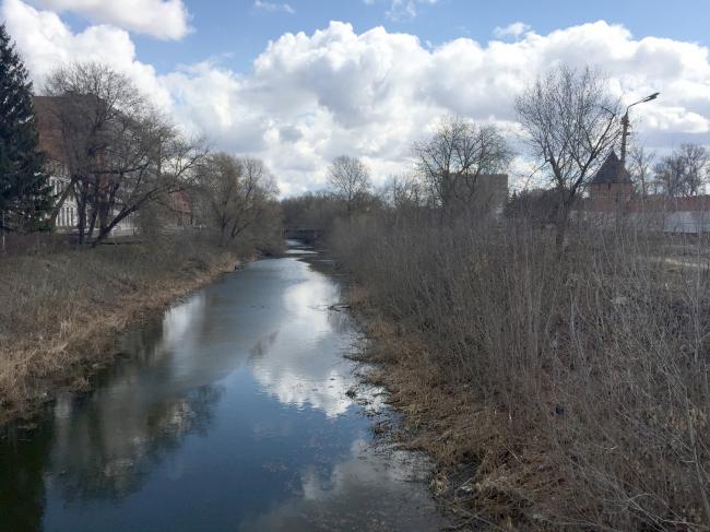 Русло реки Упы до реконструкции, 2017. Фотография предоставлена WOWHAUS