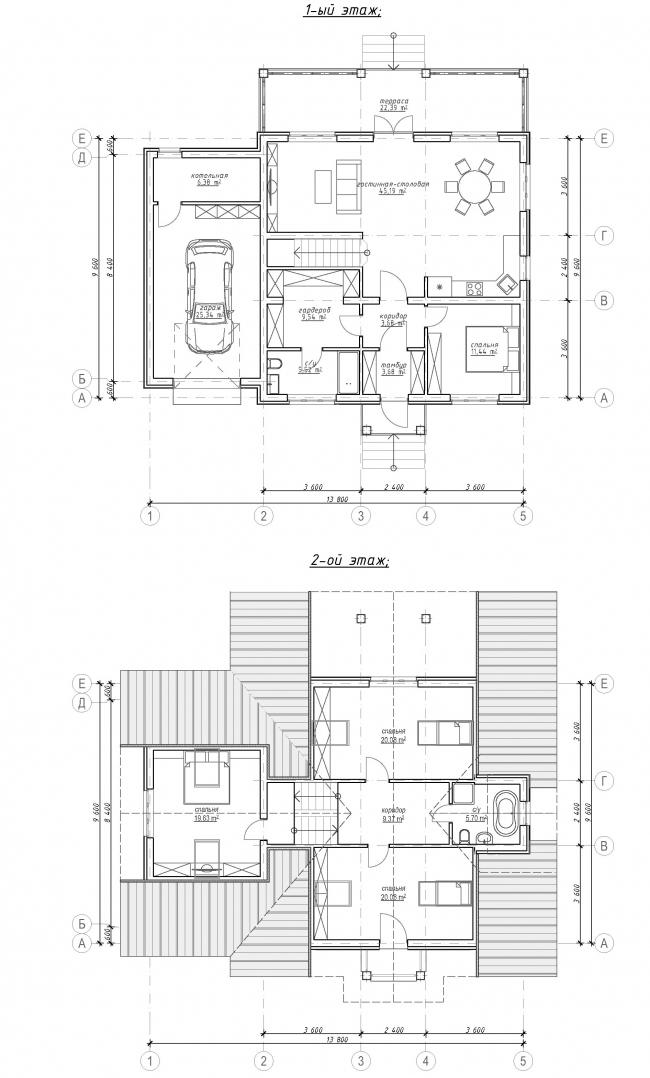 План 1-2 этажей © АСБ Карлсон & К