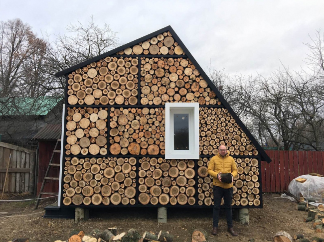 "The ""stack of firewood"" house © Rustam Kerimov, A-GA"