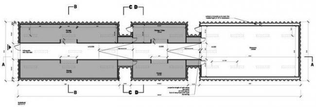 Галерея ArtFarm. План © HHF Architects