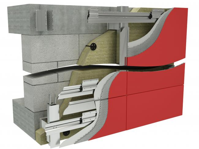 Система ALUCORE® XXL. Изображение предоставлено 3A Composites и HILTI.