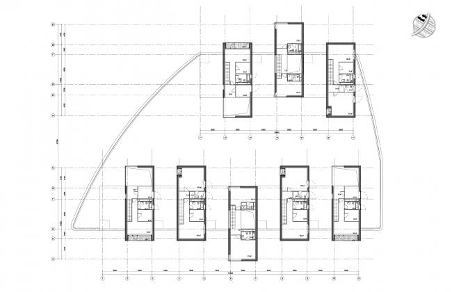 Часть 10.6, этажи 4-3. Инновационный центр «Сколково. Технопарк». Жилой квартал №10 © UNK project