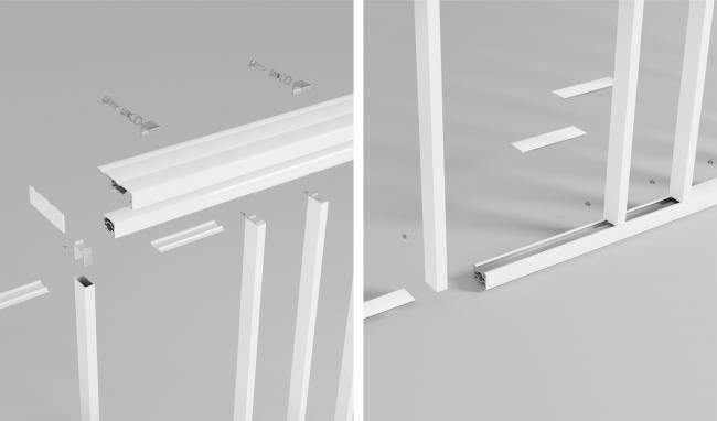Технические особенности системы PRE 35. Фотография © Архитектурные системы «Реалит»