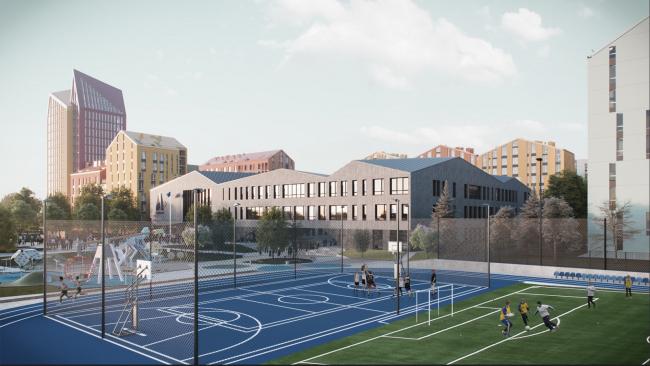 Gymnasium A+, project © Archimatika