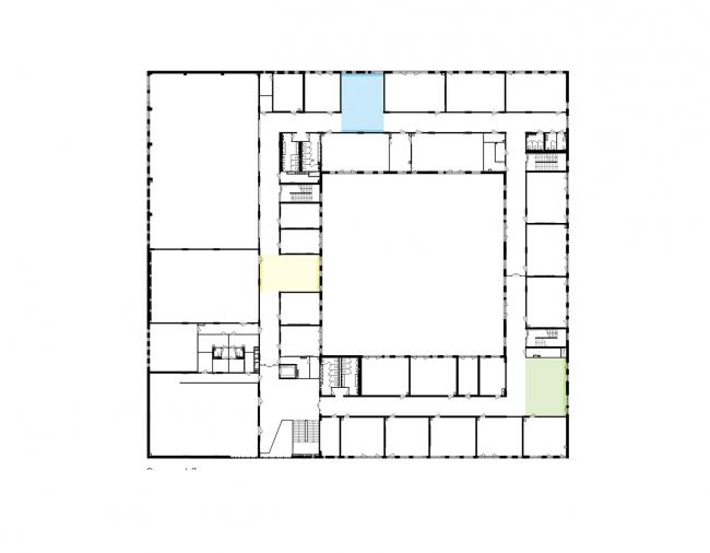 Гимназия А+, проект. План 2 этажа  © Архиматика