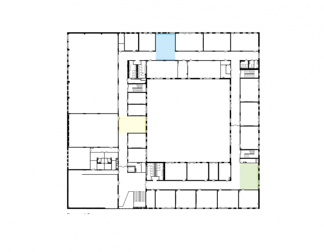Gymnasium A+, construction. Plan of the 2nd floor © Archimatika