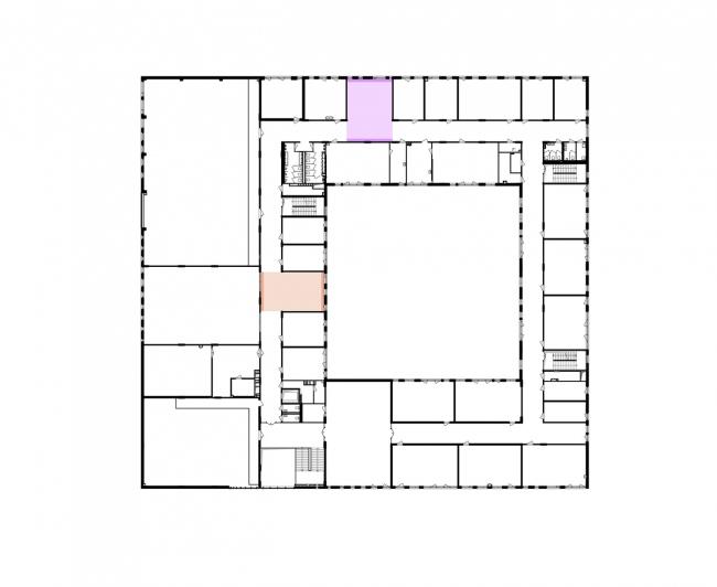 Гимназия А+, проект. План 3 этажа  © Архиматика