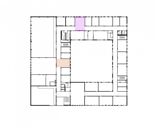 Gymnasium A+, construction. Plan of the 3rd floor © Archimatika