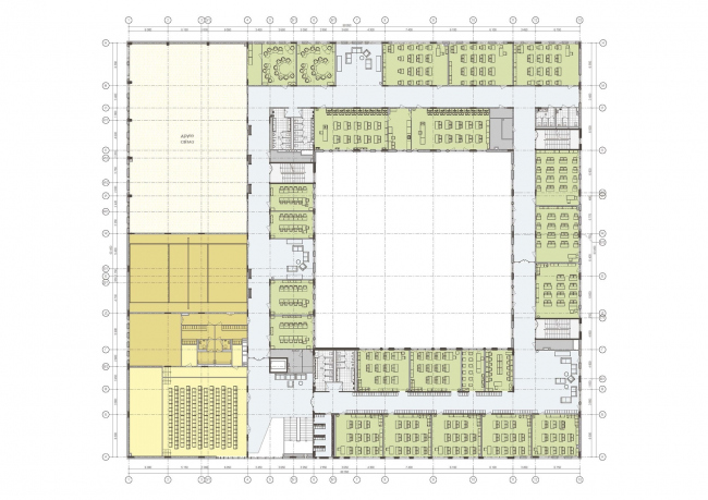 Gymnasium A+, construction. Layout of the 2nd floor © Archimatika