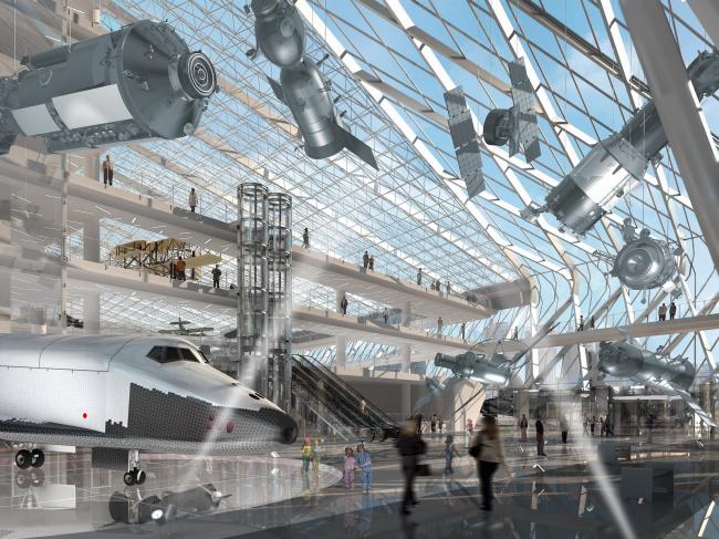 Комплекс национального музея авиации и космонавтики © ГУП МНИИП «Моспроект-4»