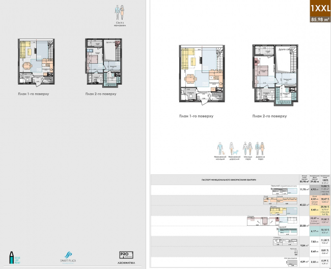 White Lines housing complex. PRO floor plans of the apartments © Archimatika